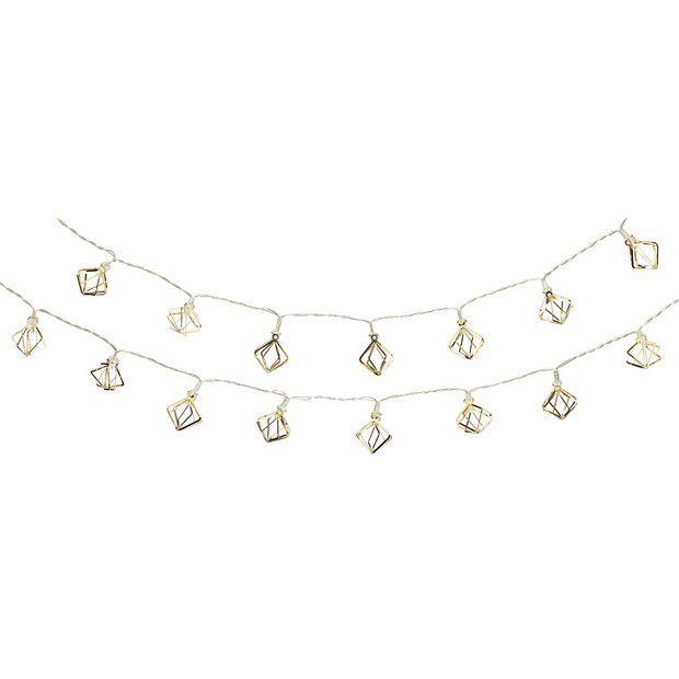 Buy Collection Set of 20 Diamond Cage LED String Lights - Copper at Argos.co.uk - Your Online Shop for Novelty lights, Lighting, Home and garden.