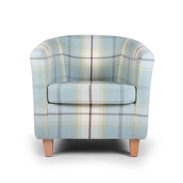 Marble Coffee Table Dunelm: Balmoral Duck Egg Check Tub Chair
