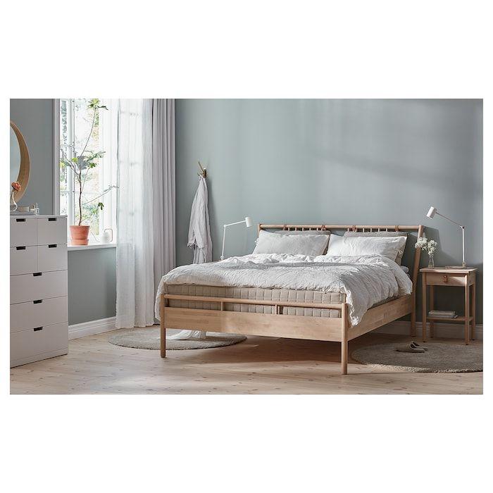 Bjorksnas Bettgestell Birke Ikea Osterreich In 2020 Adjustable Beds Bed Frame King Bed Frame