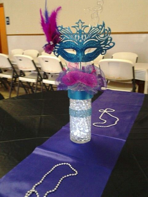 All those masks I have over. Cool centerpiece idea for a masquerade party maybe