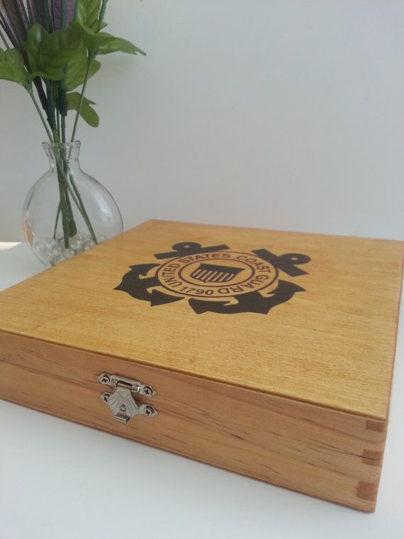 US Coast Guard - USCG - Keepsake Box - Coast Guard graduation gift on Etsy, $30.00