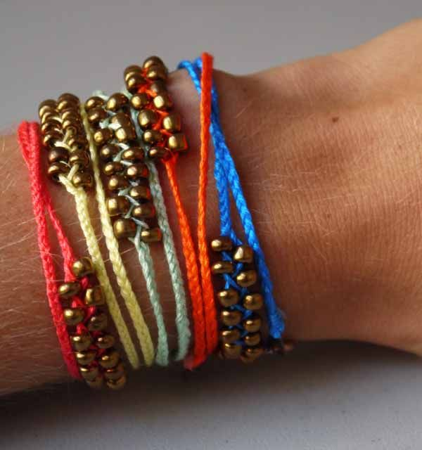 Sorry I was MIA yesterday—someone had a little too much fun on 4th of July and needed a whole lot of sleep. This DIY bracelet is so quick and easy compared to the beaded wrap bracelet I made a coup...
