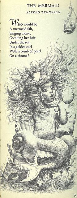 The Mermaid, Alfred Tennyson - From The Tall Book of Make Believe - Pictures by Garth Williams - Copyright 1950