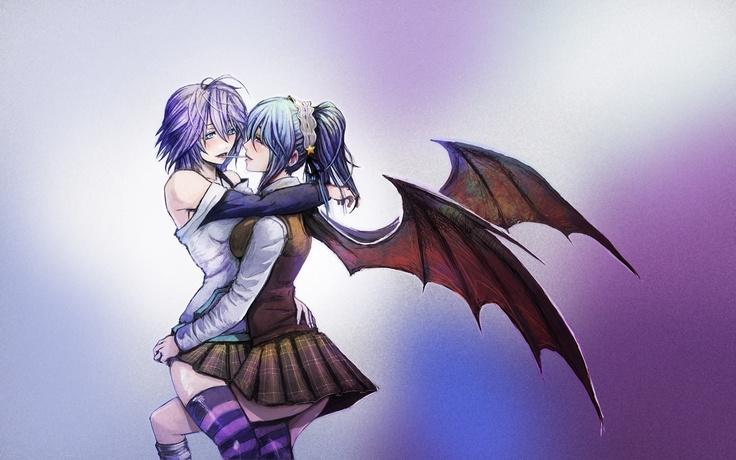vampires and anime Anime, Rosario vampire, Comic art girls