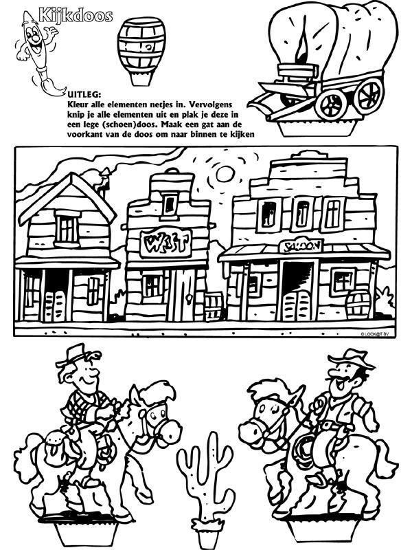Western - Kijkdoos - Knutselpagina.nl - knutselen, knutselen en nog eens knutselen.