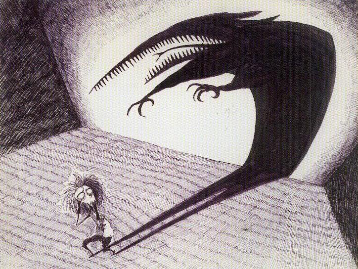 Vincent, Tim Burton - ombre / schizophrénie