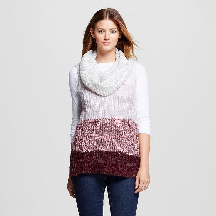 Women's Cowl Neck Sweater Tank Burgundy Xxl - Knox Rose, Red