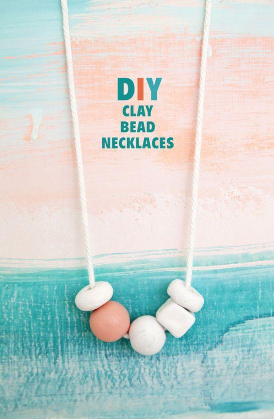 Fun! DIY clay bead necklaces.