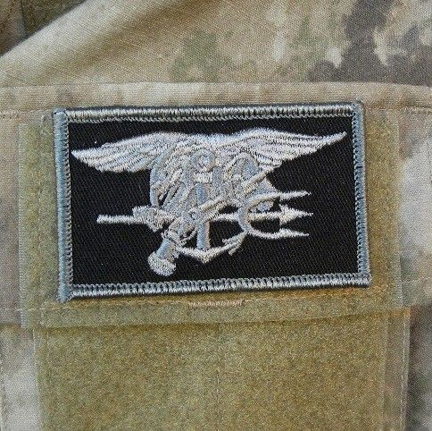 Navy Seals patch black/grey