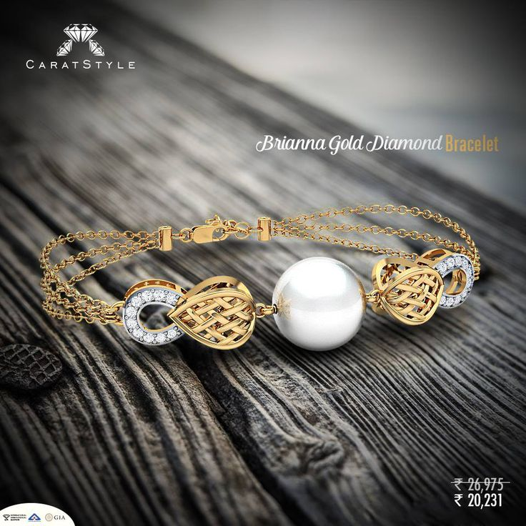 Bodacious ‪Bracelets‬ for the Bold and the Beautiful. Live now! #gold #diamond #bracelet #caratstyle #pearl #jewellery #shopping #india #fashion #lifestyle