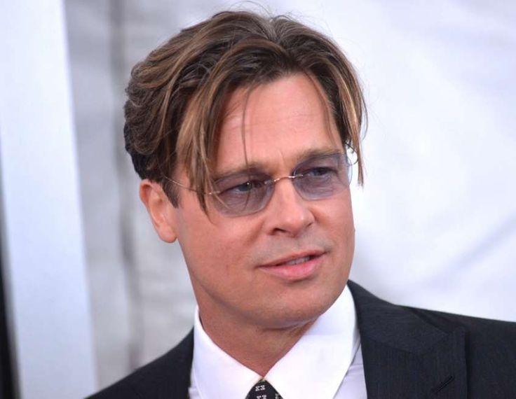 Idee tagli capelli uomo - Ciuffo più lungo sul davanti come Brad Pitt