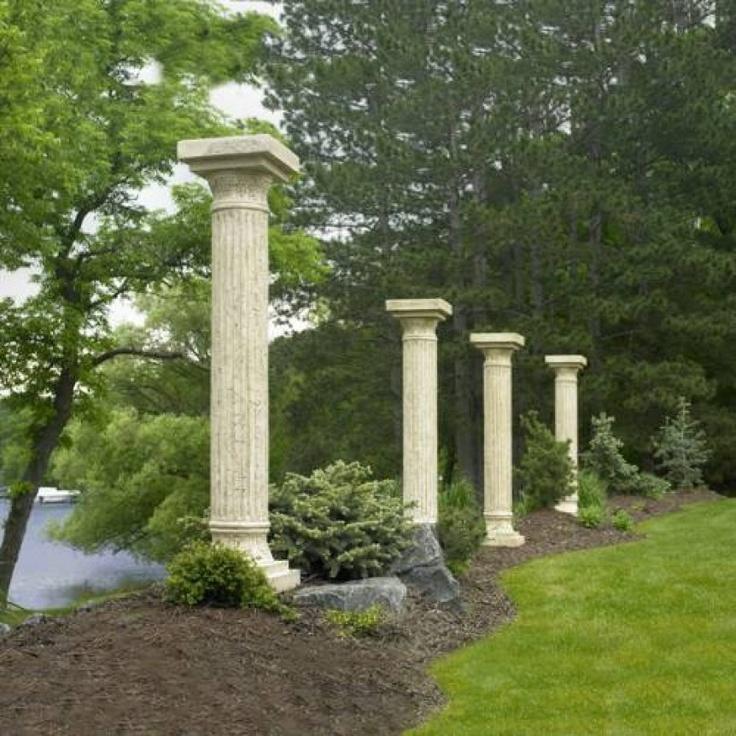 Outdoor Stone Pillars : Best images about garden columns on pinterest gardens