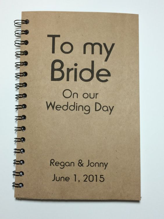 Journal Notebook  - 30 Best Ideas for Wedding Gift from Groom to Bride - EverAfterGuide