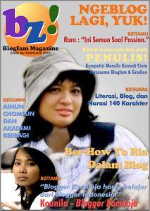 Sampul Majalah Online Blogfam edisi Februari 2012 lengkapnya di http://daengbattala.com/selamat-datang-kembali-bz/