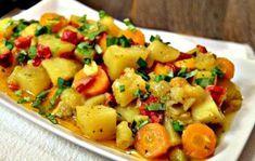 Mâncare de cartofi la cuptor. ·  1 dovlecel ·  6 cartofi marime medie ·  2 morcovi ·  1 ceapa...