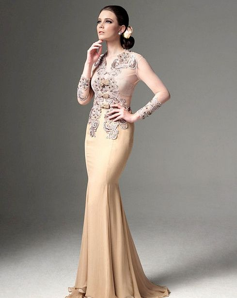 Gown with #kebaya influence