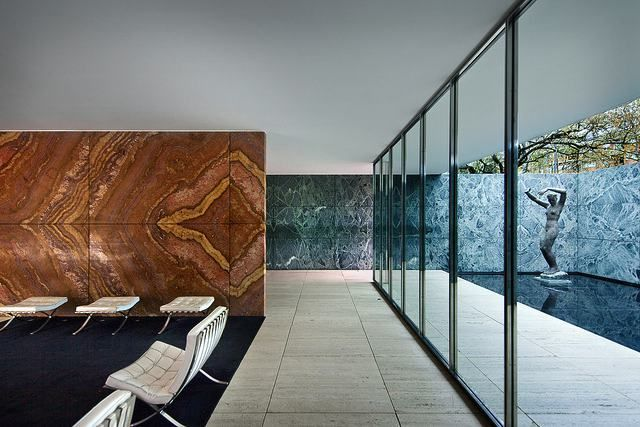 The Barcelona Pavilion by Mies van der Rohe – #bar…