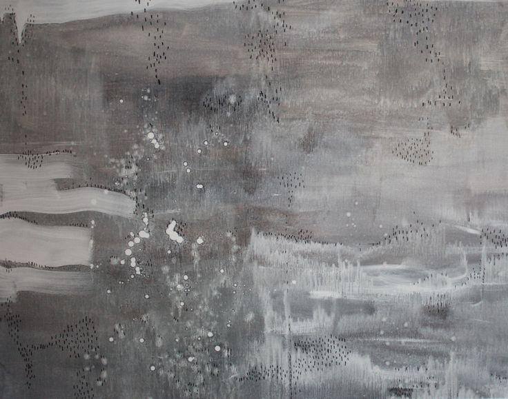 Happy in the Rain Mixed media on linen 110 x 140 cm 2016