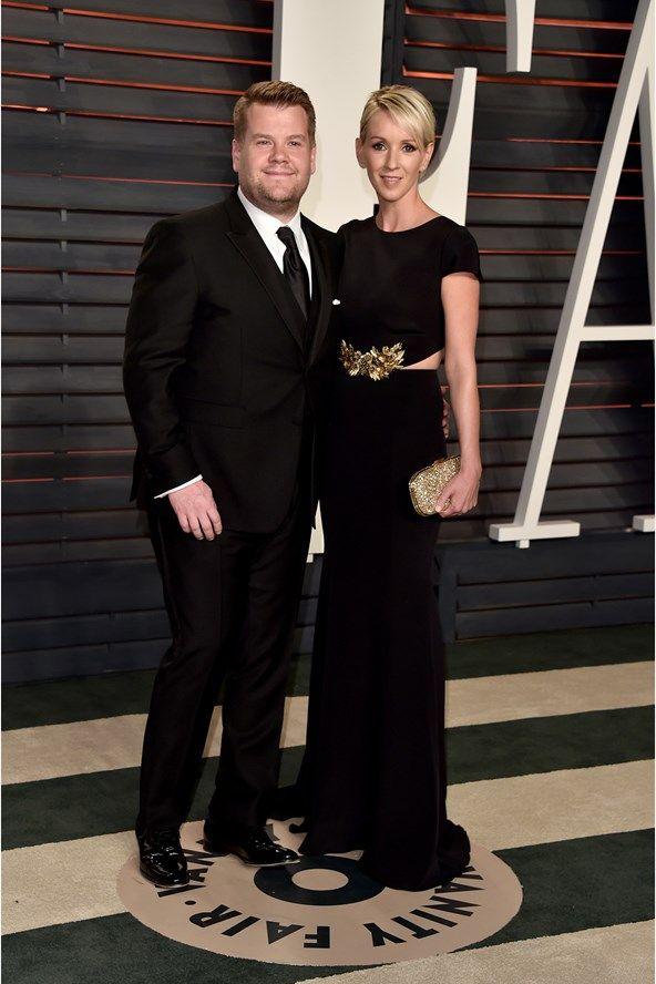 James Corden and his wife Julia Carey.
