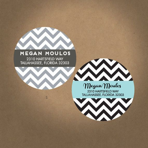 Custom chevron labels return address stickers