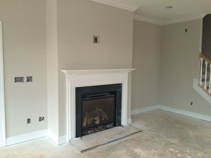 Fireplace With Slate Surround And Sherwin Williams
