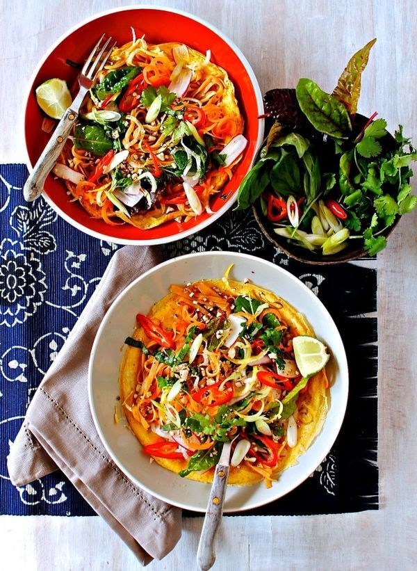 Kellie Anderson 'Pad Thai Open Faced Omelette'. Using an Abel&Cole fruit and veg box and inspiration from Rachel de Thample's new cookbook FIVE, we challenged bloggers to come up with a recipe that included your 5+ a day!