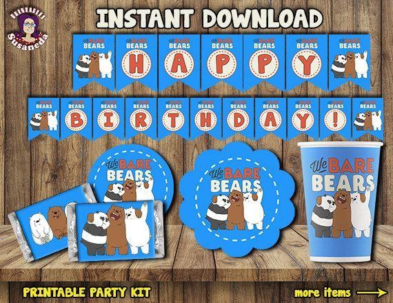The Best We Bare Bears Birthday Banner JPG