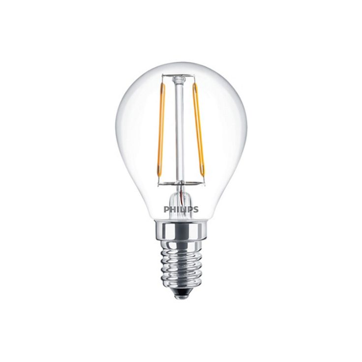 Dedeman Bec LED cu filament Philips P45 E14 25W lumina calda - Dedicat planurilor tale