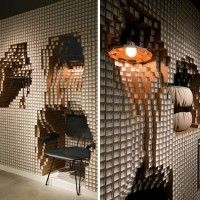 DIGIT' DIESEL HOME #INSTALLATION FEATURES 10,000 PAPER PIPES via @Inthralld