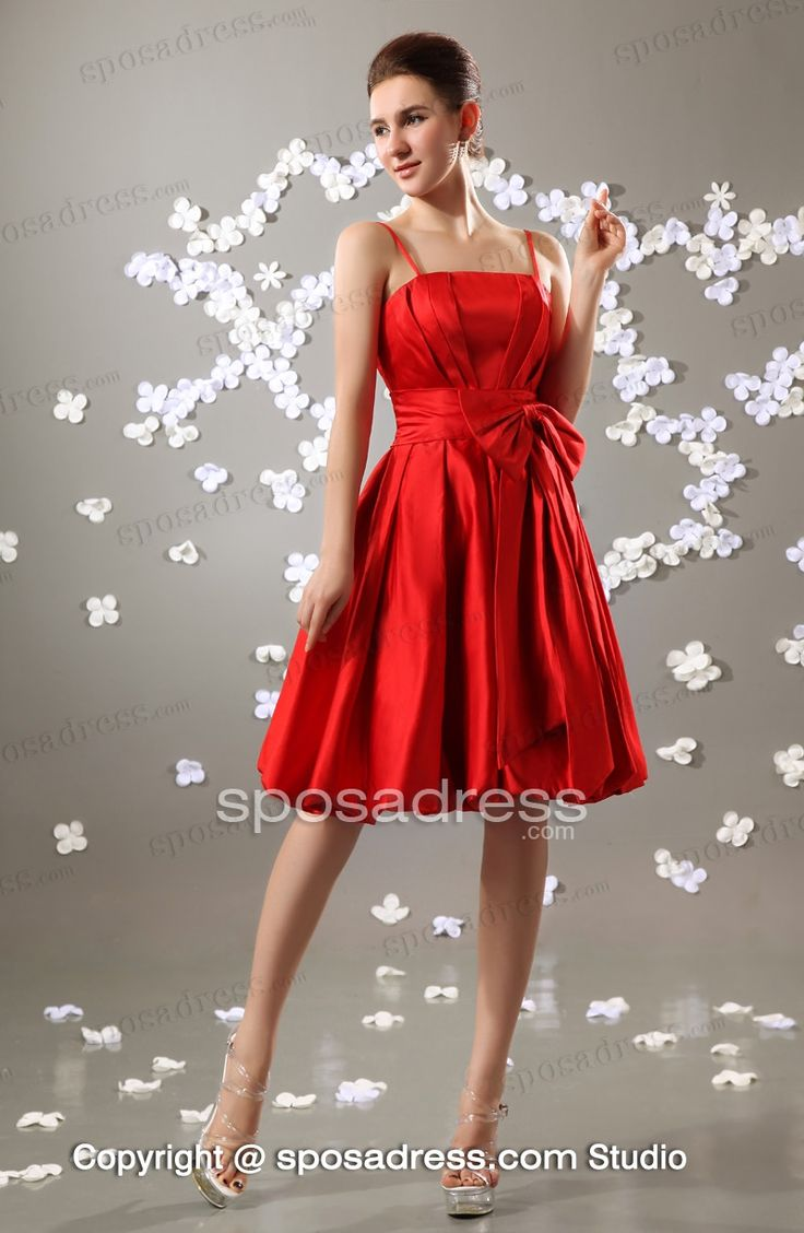 32 best fashion bridesmaid dresses images on pinterest fashion hot red short a line bowknot knee length bridesmaid dress with straps sposadress ombrellifo Image collections