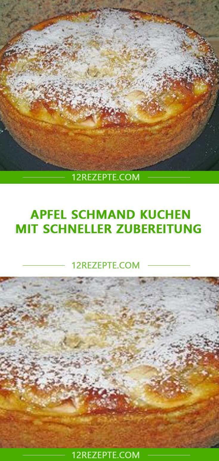 Apfel-Schmand-Kuchen mit schneller Zubereitung – Einfache Rezepte