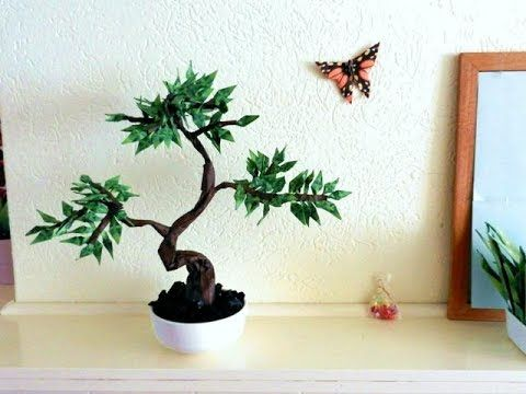 Bonsai Origami TREE - Published on Aug 9, 2015 I used papers of my own Bonsai Origami book to fold this model. About 80 to 100 leaves are used for this tree. More Origami fun on my site: http://joostlangeveldorigami.nl/