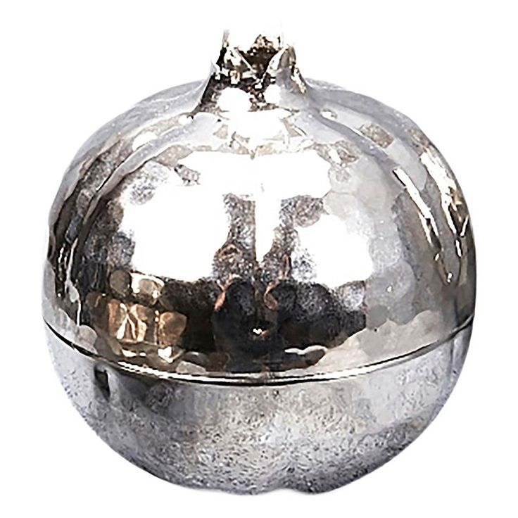 Hand Crafted Decorative Pomegranate, Nickel