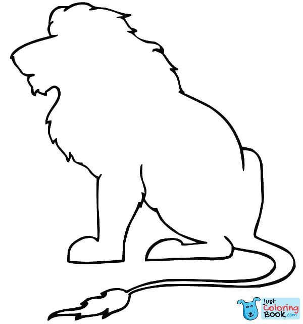 Sitting Lion Outline Coloring Page Free Printable Coloring Intended For Free Printable Sitting Lion Coloring Lion Coloring Pages Animal Stencil Animal Outline See more ideas about lion coloring pages, coloring pages, coloring pictures. free printable sitting lion coloring