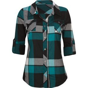 I love flannel and the teal is pretty!