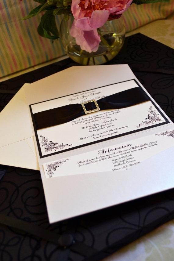 pocket wedding invites australia%0A pocket invitation with buckle