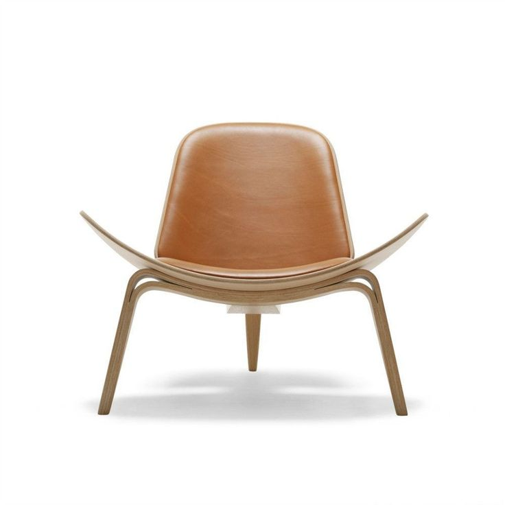 Hans Wegner Shell Chair Brown Leather #UniqueChair