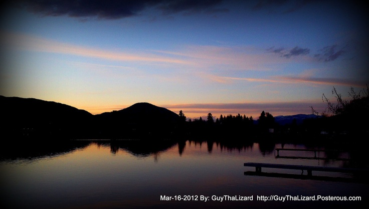 Sunset - Skaha Lake March 16th 2012 - Photography By GuyThaLizard