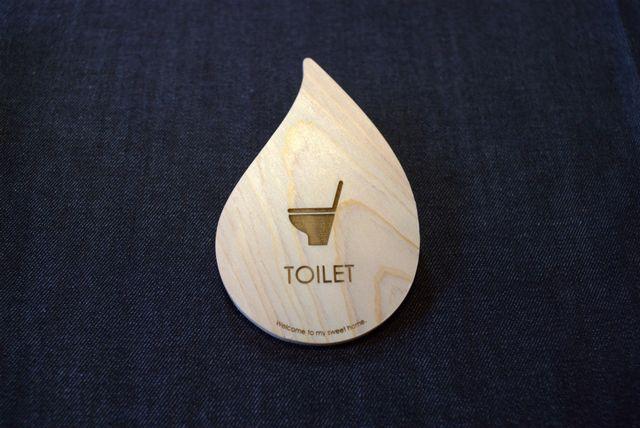 トイレ プレート サイン drop-plate