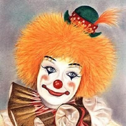 97 best images about clowns on pinterest circus clown manualidades and canvases. Black Bedroom Furniture Sets. Home Design Ideas