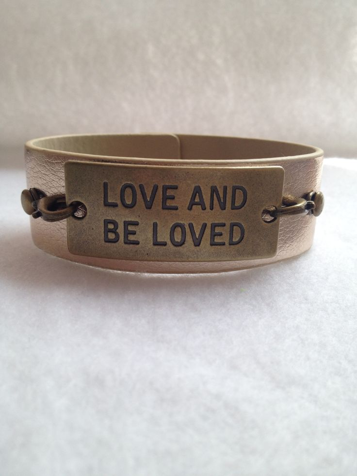 Leather Cuff Bracelet with metal connector  #Charity Item 'Collection'  15% goes to 1Love.org purchase @ www.raescraft.com learn more about the charity foundation www.1Love.org