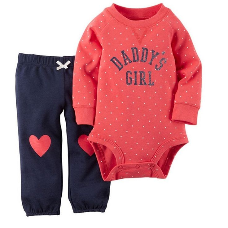 Baby Girl Clothes Red Bodysuit & Pants Set Baby Set Girls 3-24 Months Sets