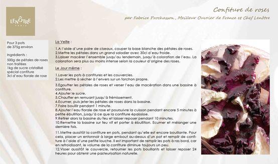 Lenôtre - Confiture de roses http://www.lenotre.com/media/pdf/lenotre-recette-confiture-de-roses.jpg