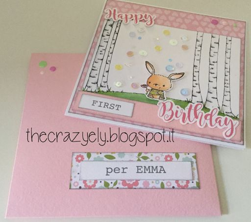 THECRAZYELY: HAPPY FIRST BIRTHDAY CARD