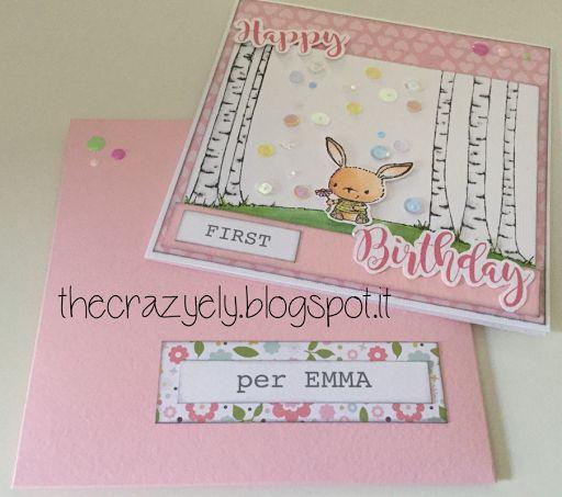 THECRAZYELY: HAPPY FIRST BIRTHDAY CARD