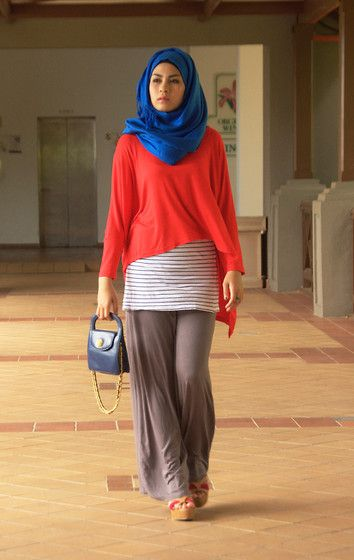 Mixture (by Shida Manshor) http://lookbook.nu/look/3595531-mixture ❤ hijab style