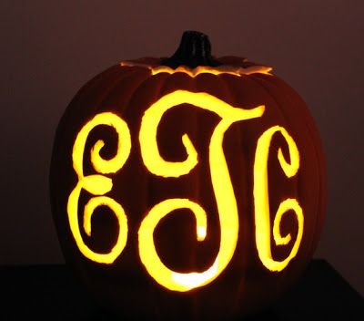 22 best pumpkin carving templates images on pinterest for Monogram pumpkin templates