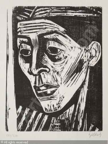 """""""Ellen"""" (die Frau des Künstlers), 1953   Karl HUBBUCH."""