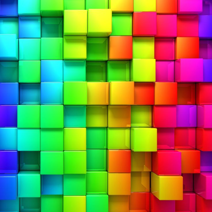 Cubic Rainbow HD wallpaper for iPhone 6 Plus - HDwallpapers.net