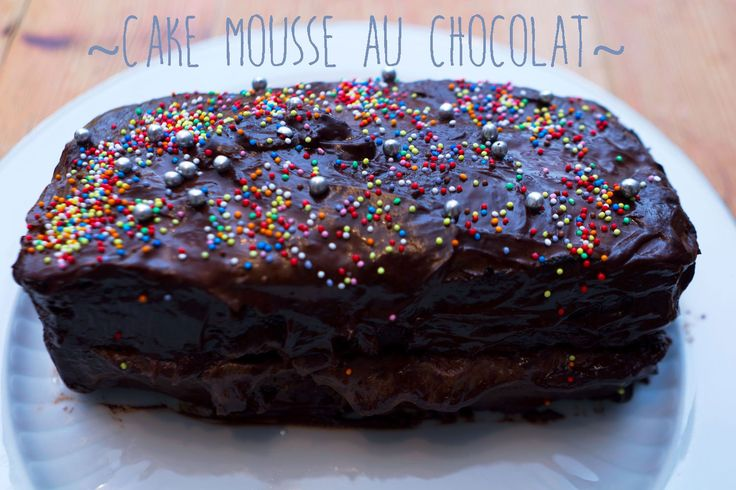 Cake mousse au chocolat – La pâtisserie sans cruauté et sans gluten